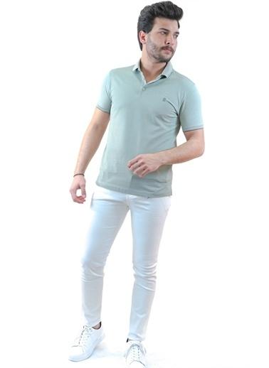 Boris Becker Kısa Kol Polo Yaka Logo Nakışlı Düğme Kapatmalı Su I Erkek Tshirt Yeşil